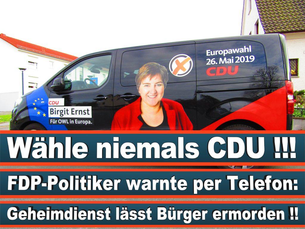 Europawahl Stimmzettel Birgit Ernst CDU NRW Elmar Brok CDU Prognose Umfrage Wahlplakate (2)