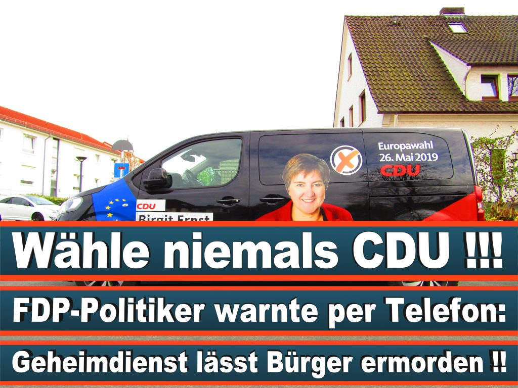 Europawahl Stimmzettel Birgit Ernst CDU NRW Elmar Brok CDU Prognose Umfrage Wahlplakate (4)